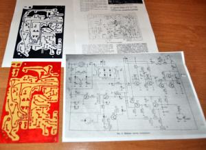 Płytka drukowana transceivera SP5QU oraz opisy z Radioelektronika